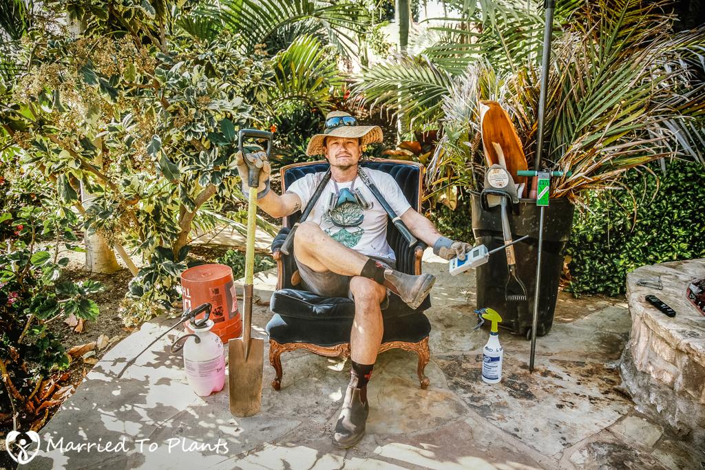 Len Geiger Garden Shot