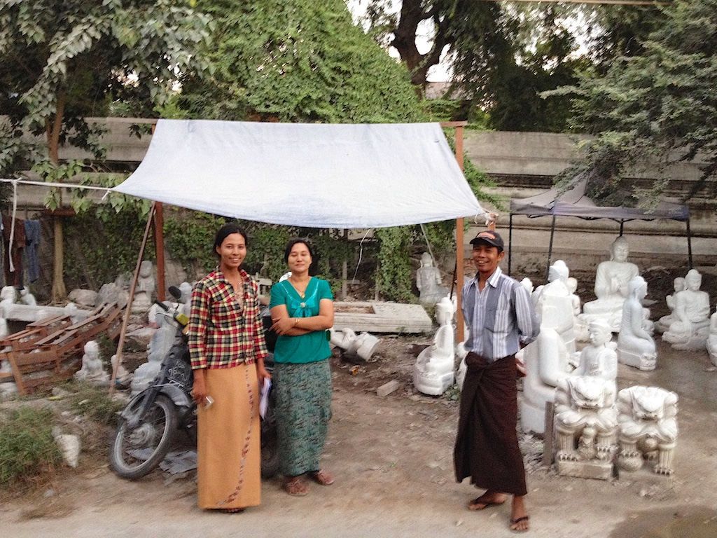 Artist at Marble Carving Workshop in Mandalay