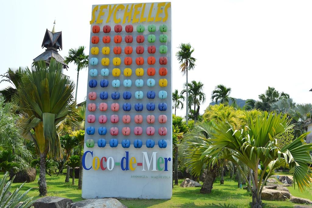 Nong Nooch Tropical Botanical Garden Coco-de-mer Sign