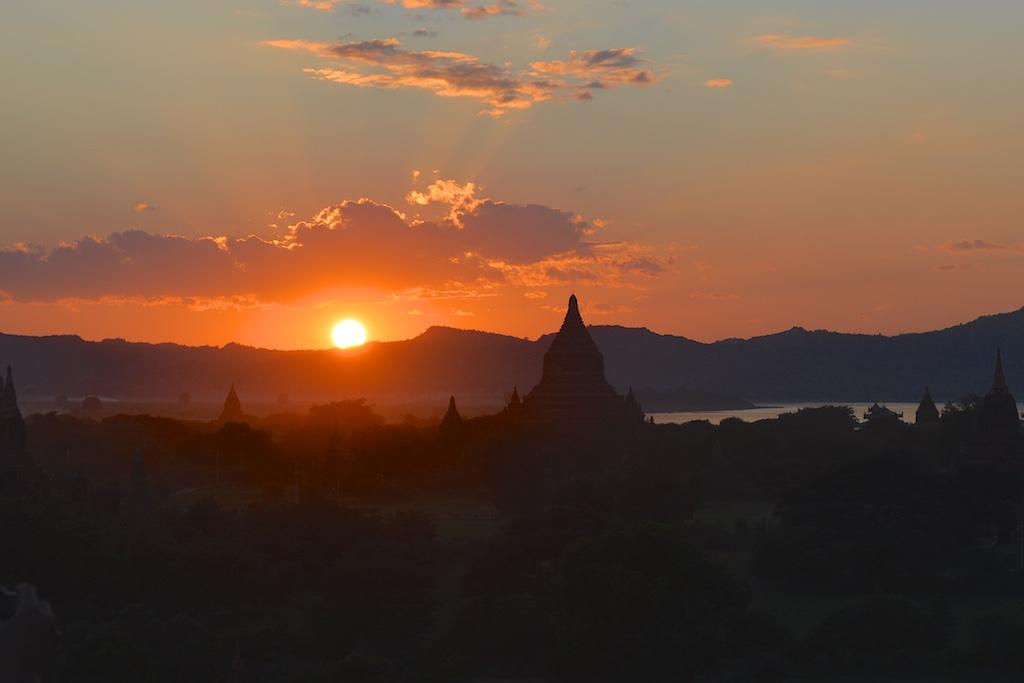 Shwesandaw Pagoda at Sunset