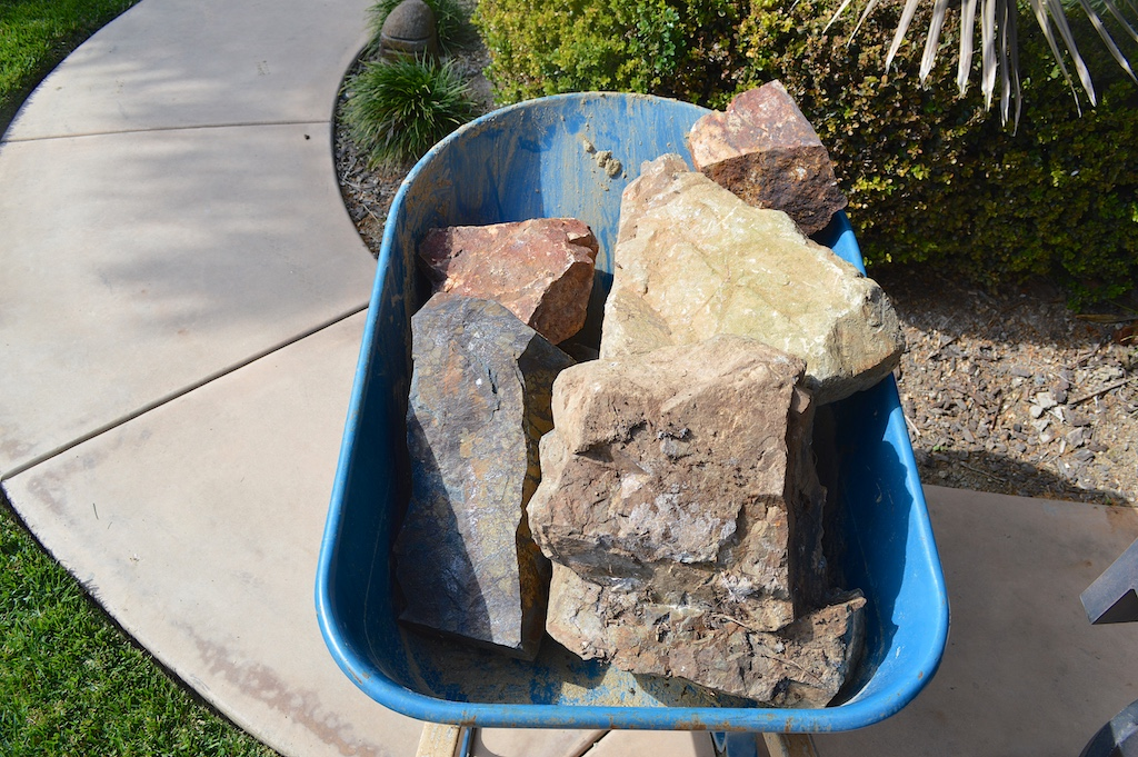 Weekend Project - Boulders for Rock Garden