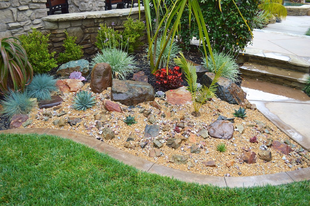 My weekend project a new rock garden Landscaping with rocks