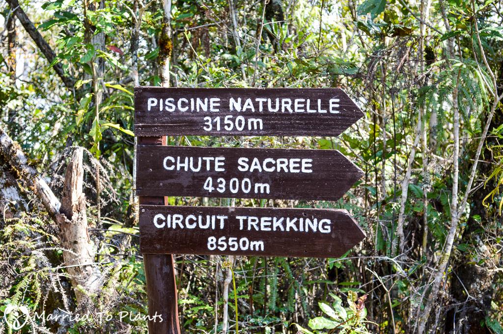 Mantadia National Park Circuit Trek Distance Sign