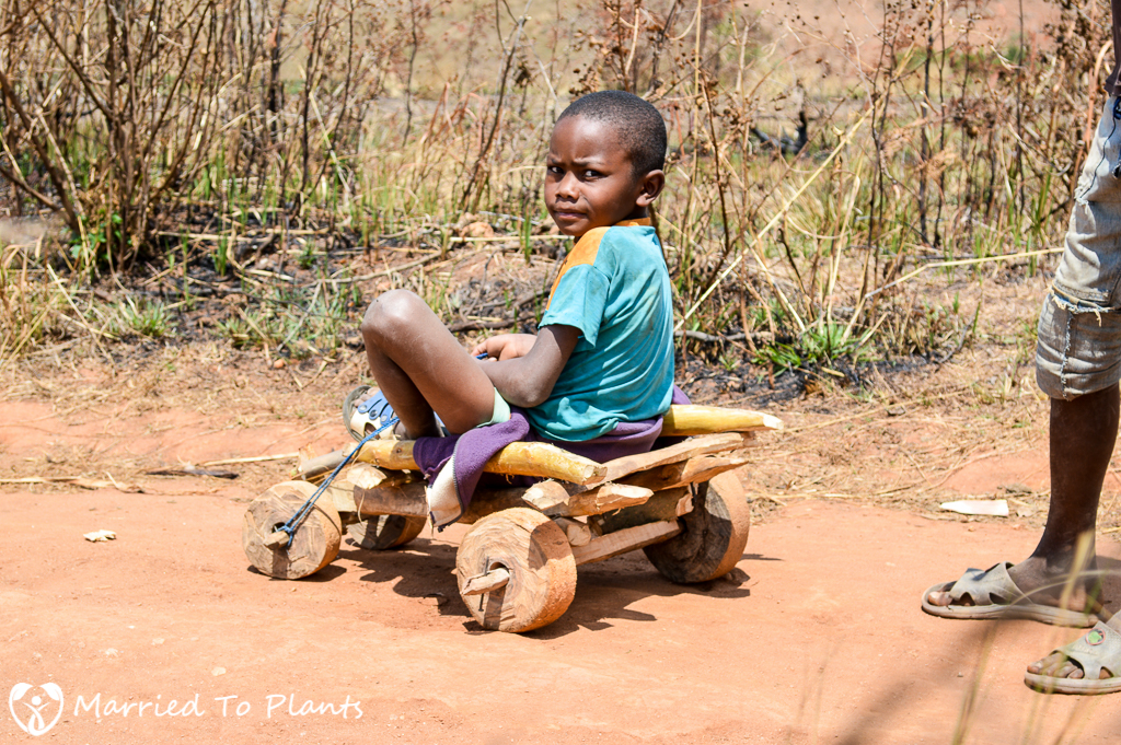 Andringitra National Park Child on Cart
