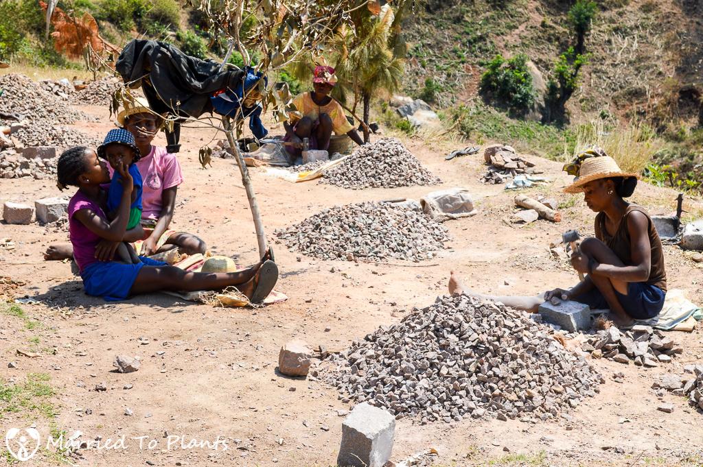 Making Gravel Outside Ambalavao