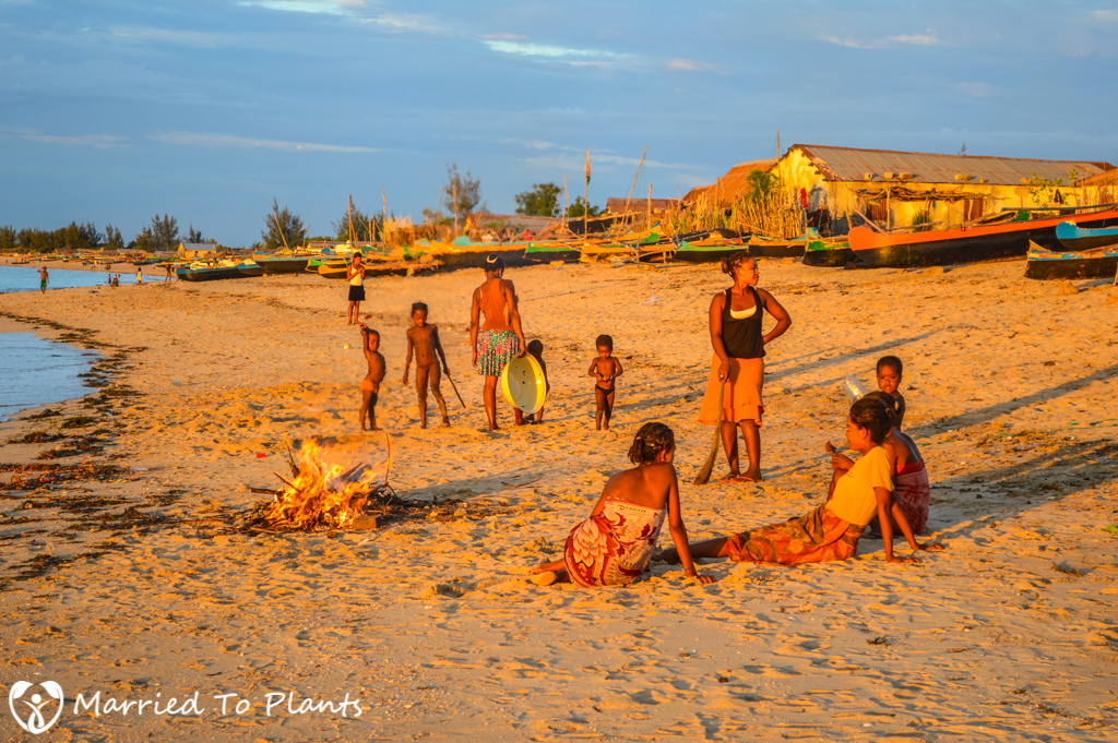 Anakao People at Sunset