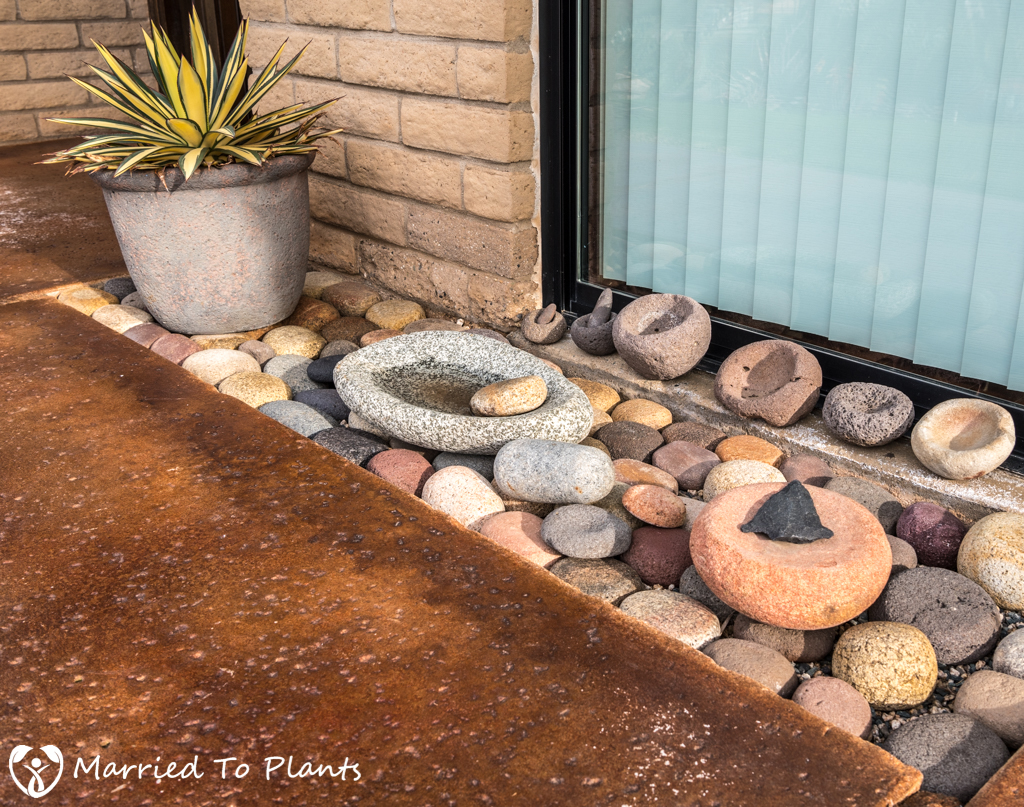 Bob De Jong Garden Indian Grinding Stones