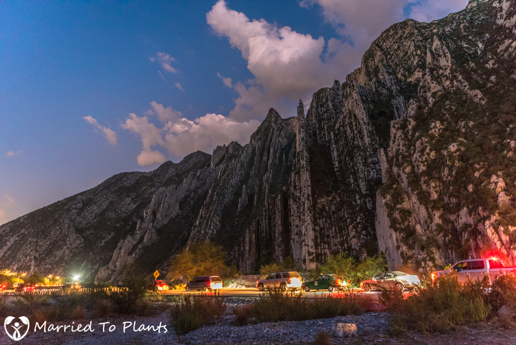 Huasteca Canyon Evening Traffic