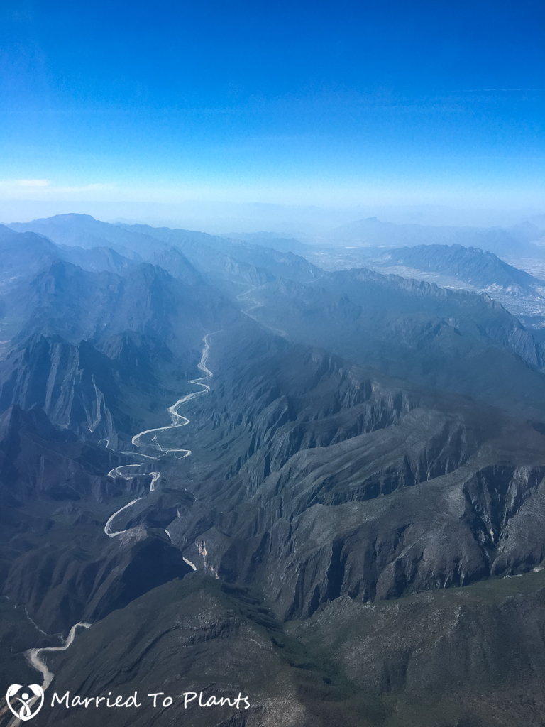 Huasteca Canyon from Air