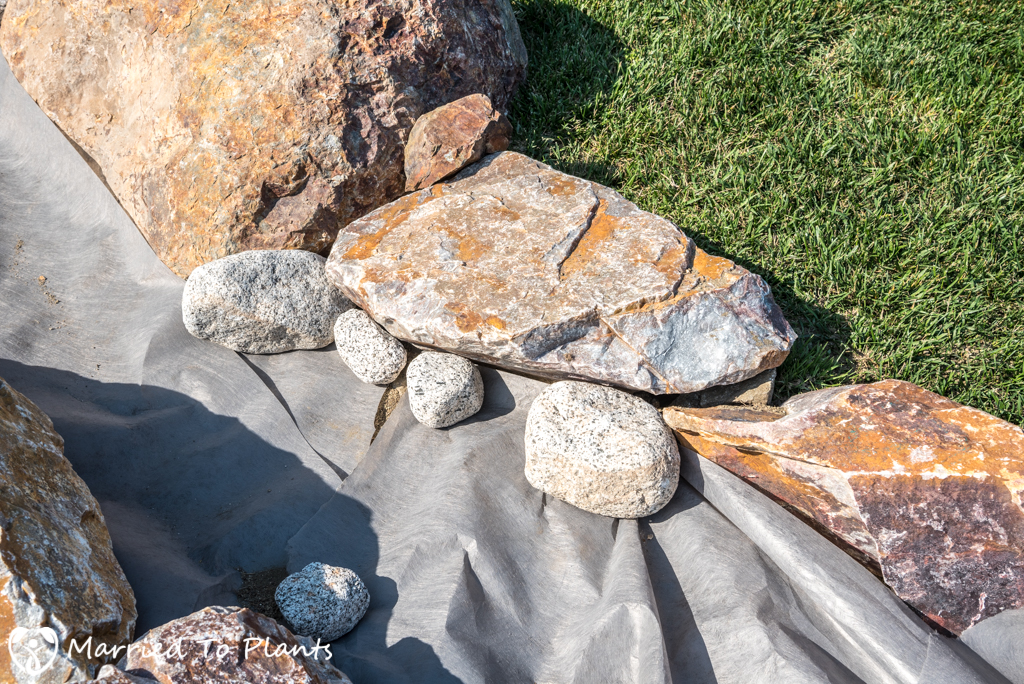 Dry Creek Bed - Large River Rock Placement