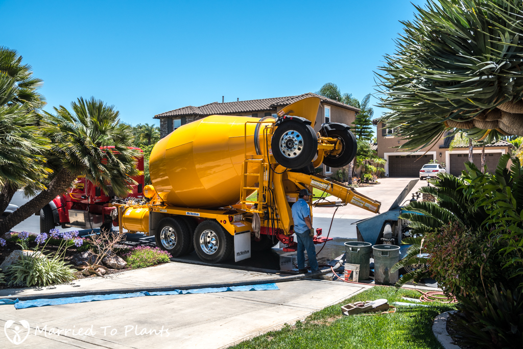 Garden Project Update - Cement Truck