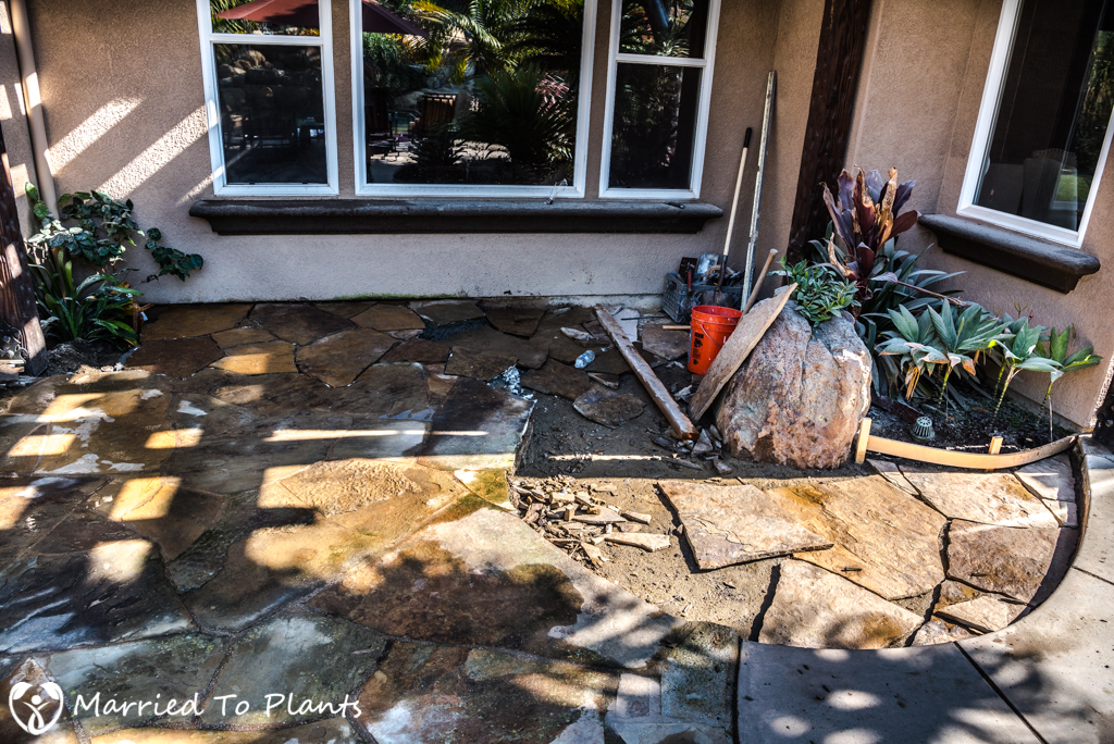 Garden Project Update - Flagstone Patio