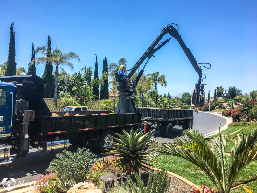 Garden Project Update - KRC Rock Delivery