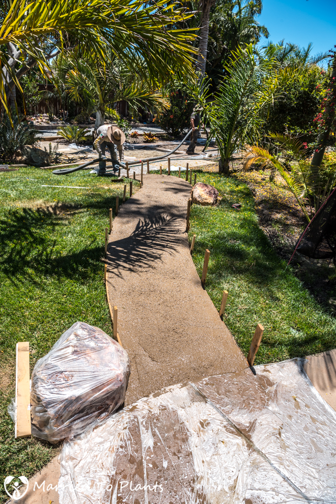 Garden Project Update - Pouring Cement