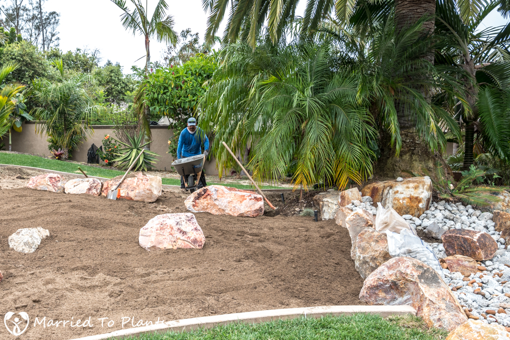 Planter Bed Preparation - Bioswale Mix in Planter Bed