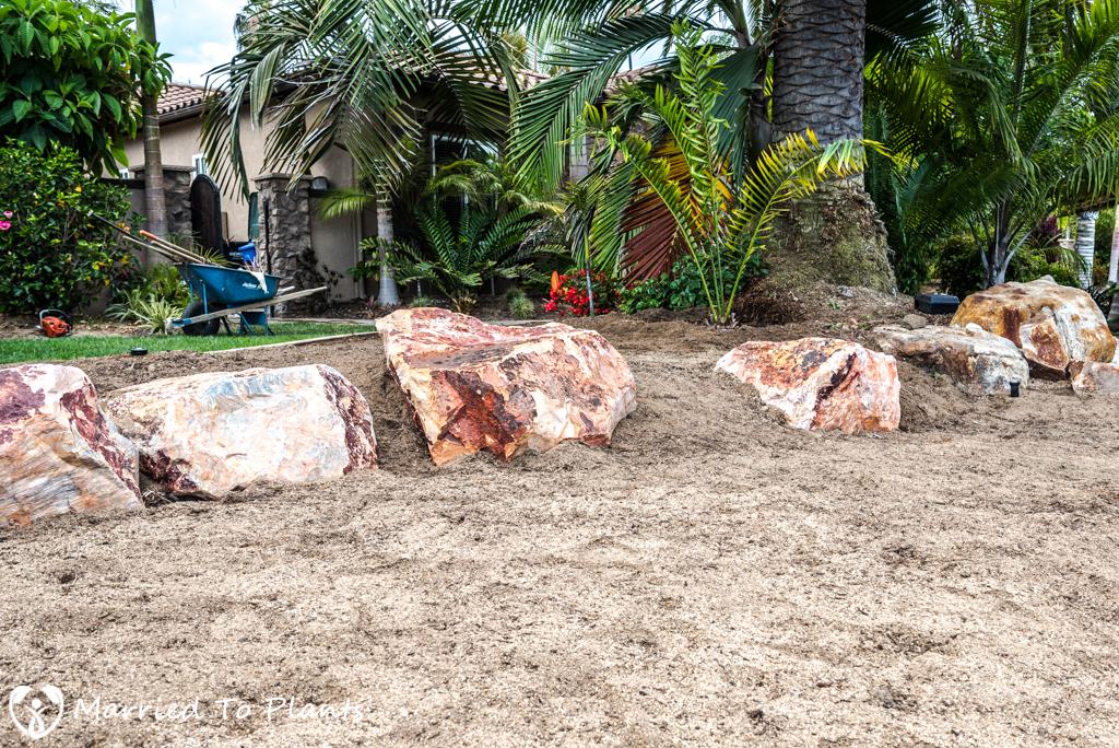 Planter Bed Preparation - Palm Planter Bed