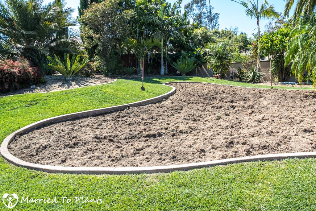 Planter Bed Preparation - Rototilled Dirt