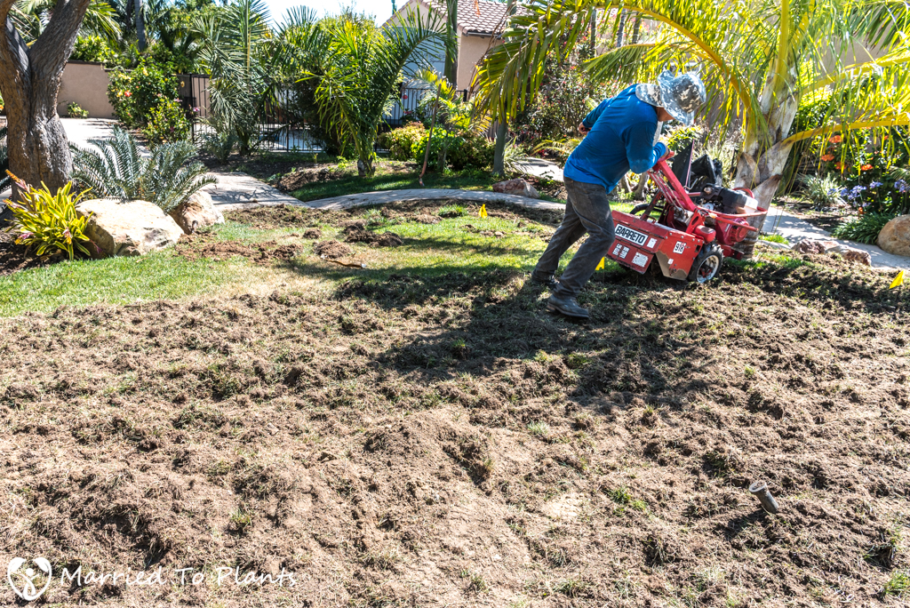 Planter Bed Preparation - Rototiller