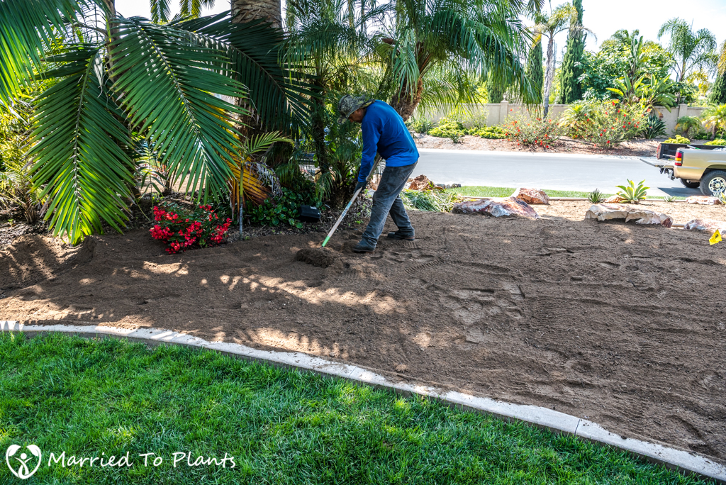 Planter Bed Preparation - Topsoil Layers